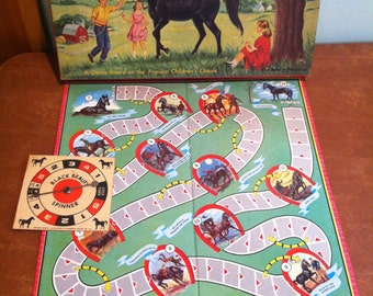 Vintage Black Beauty Board Game Transogram 1958
