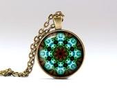 Fractal pendant Geometry necklace Bohemian jewelry OWA129