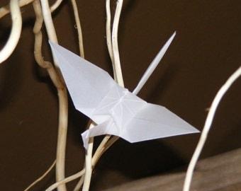 Origami wedding crane, set of 100 origami crane, tracing paper crane, wedding origami, wedding crane, wedding decor crane, tracing paper