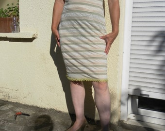 Hemp and organic cotton lace dress