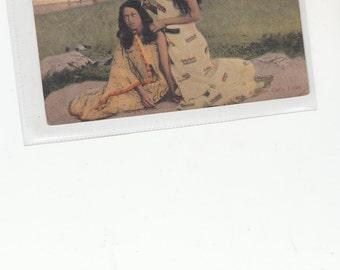 New Zealand-A Maori Girl's Toilet-Hair Grooming-Early Postcard