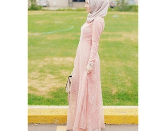 Blush Lace Gown