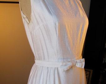 Wedding SILK - Vintage Sixties Sheath Gown with Jacket // 1960s Mia Farrow Mod Wedding Dress