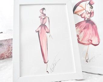 Fashion sketch, Fall illustration,  Fashion illustration, Autumn print, Fashion art, Fashion print, Autumn wall art, Fashion wall art