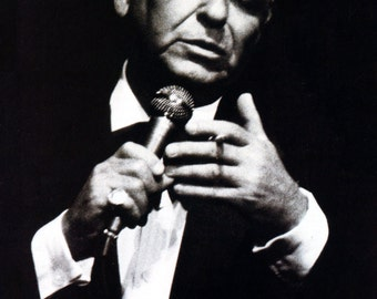 Frank Sinatra Poster, Old Blue Eyes, Singing and Smoking, Live Performance, The Rat Pack