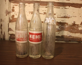 Vintage Nehi Glass Bottle 9oz 10oz