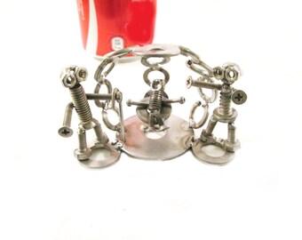 artistic metal art sculpture steel screws steel crib Nativity art metal recycling metal sculptures made in italy