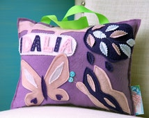 Personalized Kid's Pillows, Name Pillow, Personalized Baby Pillow, Baby Name Pillow, Kid's Pillow, Butterfly Pillow, Butterfly Nursery Decor