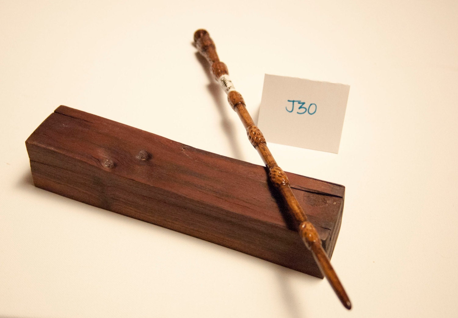 15 3 4 elder hand carved wooden wand with runes for Wooden elder wand