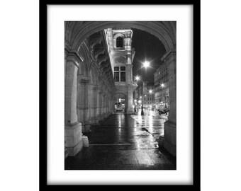 Vienna, black and white photography, vienna photography, large wall art, black and white prints, fine art photography, night photography