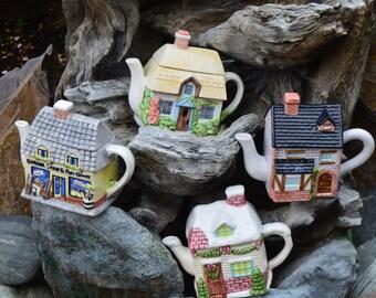 566 Cottage Teapot, House Teapot, General Store Teapot, Brick Cottage Teapot, Cottage Style Teapots, Decorative Teapots, Unique Teapot, Cute