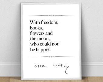 Book Art, Oscar Wilde Quote, Book Lover, Book Art Print, Book Art Poster, Book Lover Gift, Book Wall Art, Book Lover Print, Book Poster