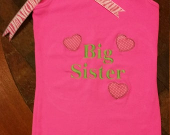 Girls Big Sister Shirt