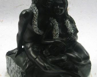 Black coral hawaiian na ipo sculpture