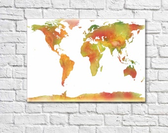 World Map World Map Canvas World Map Art Canvas World Map Large Canvas World map