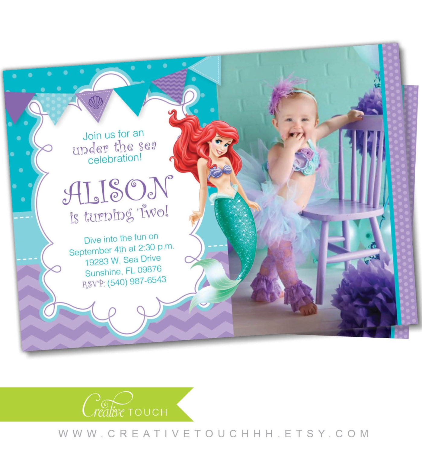 Little Mermaid Invitation orderecigsjuiceinfo