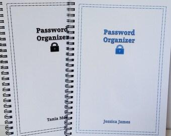 Password Organizer - Internet Password Book, Spiral Bound Password Journal, Website Organizer, Password Keeper, Password List, Web, Log