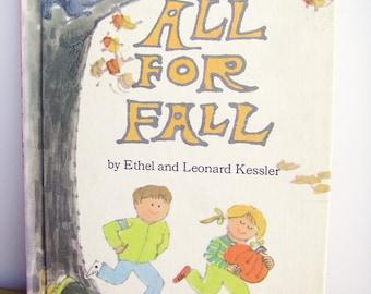Kid's Vintage Books, All For Fall, Children's Books, 1970's