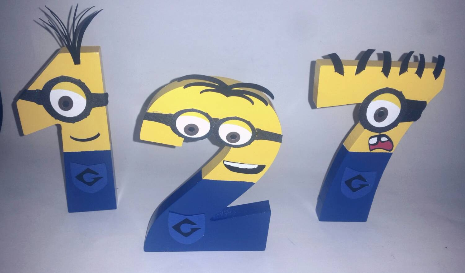 Wooden Minion Numbers Minion Personalize Minion Party Minion Room Minion Decor