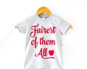 Fairest of them All, Snow White T-Shirt, Princess Shirt, Wear to the Parks, T-Shirt, V Neck, Happily Ever Tees