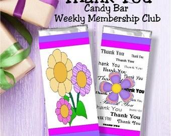 Printable Candy Bar of the Week Membership Club