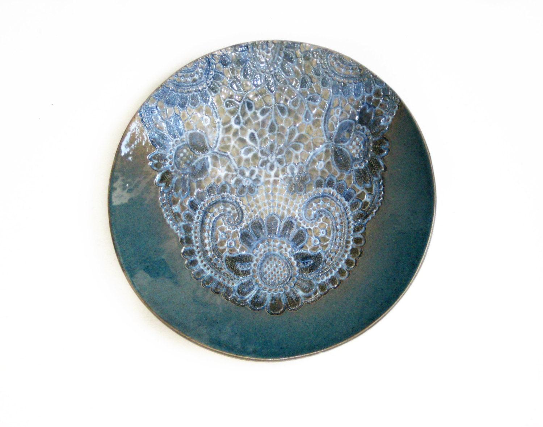 Wall art ceramic blue ceramic plate wall art decor ceramic for Ceramic wall art