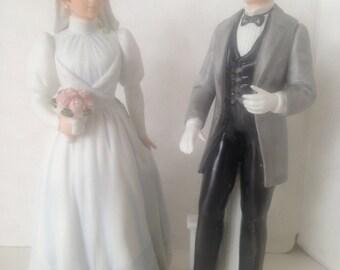 Vintage HOMCO Bridge Groom Figurine Wedding Cake Topper 1440 1480