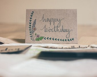 Happy Birthday Card (Floral)