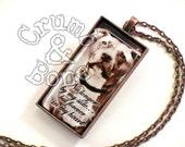 Custom Pet Memorial Keychain Jewelry w Custom Quote, Dog Gifts, Pendant Necklace, Dog Jewelry, Dog Lover Gifts, Pet Memorial GiftsKeychain