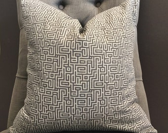 Pillow Cover, Gray Pillow Cover, MIRANDA