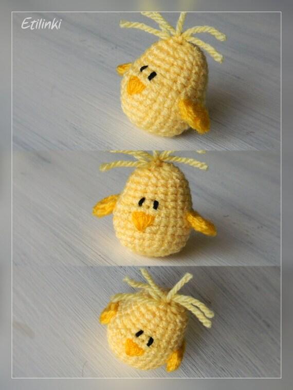 Amigurumi Baby Chicks : Easter Chick Amigurumi Miniature Chick Easter Gift by Etilinki