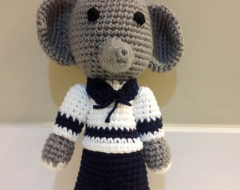 Crochet Elephant: Pierre, Elephant sailor