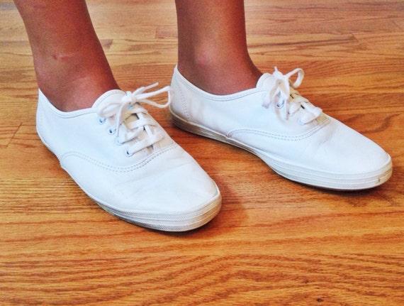 keds classic white plimsolls