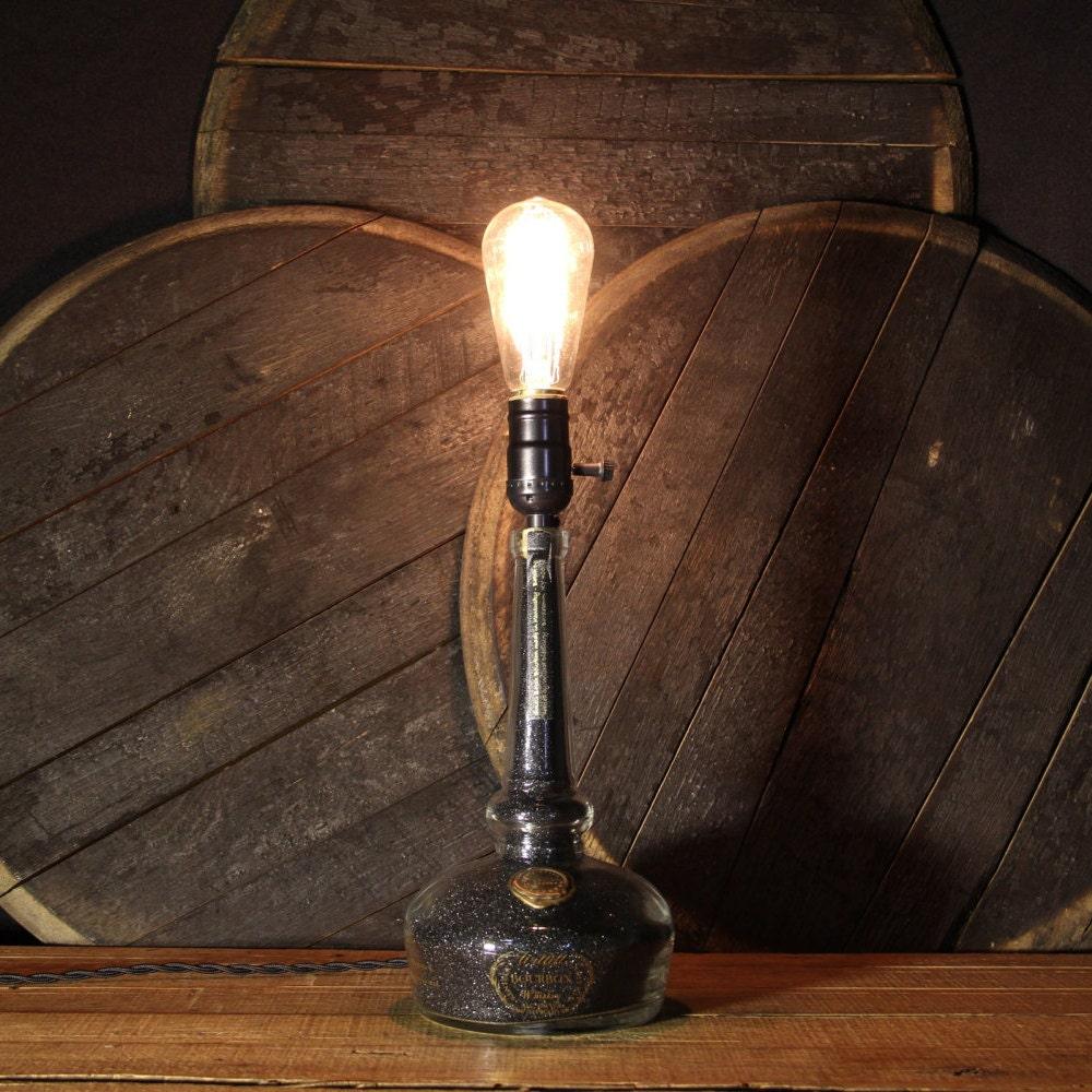 Upcycled Willett Bourbon Whiskey Bottle Lamp Table Lamp