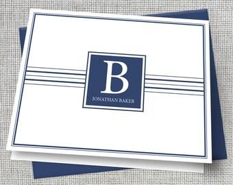 Men's Personalized Stationery / Men's Personalized Stationary / Men's Monogram Stationary / Men's Custom Stationary / Custom Note Card Set