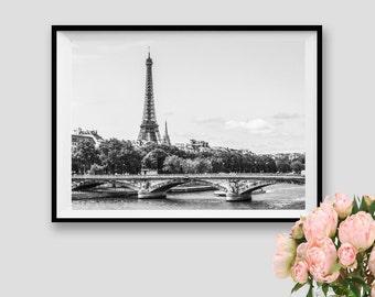 Eiffel Tower Art Paris Decor Paris Print Photograpy Paris Wall Art Eiffel Tower Black and white Paris Instant Download