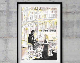 Before Sunrise Alternative Movie Poster - Original Illustration