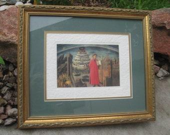 Dante Divine Comedy Framed