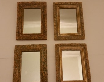 MARKED DOWN! - Vintage Set Of Four Decorative Mirrors