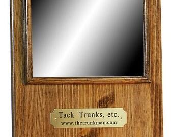 Mirror/Crop Holder; includes engraved nameplate