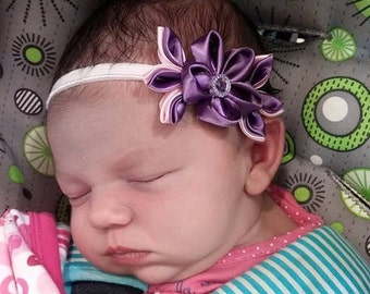 Purple flower headband / headband purple flower
