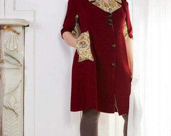 Red Embroided Coat