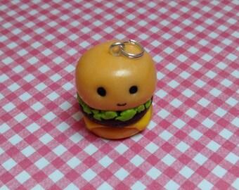 Kawaii Polymer Clay Cheese Burger Charm