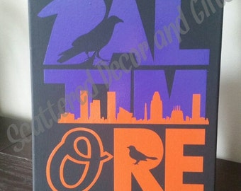 Baltimore Ravens/Orioles/Skyline Sports Canvas Sign