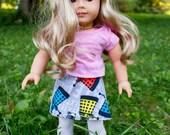 """Dr. Who American Girl Doll Skirt: A Reversible Wrap Skirt for 18"""" Dolls"""