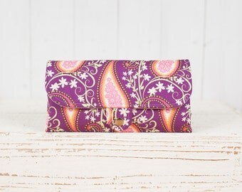 SmartPhone Purse 12x - Ultimate Wallet Clutch with ID pocket /  Rhapsody in Plum -- Ready to Ship