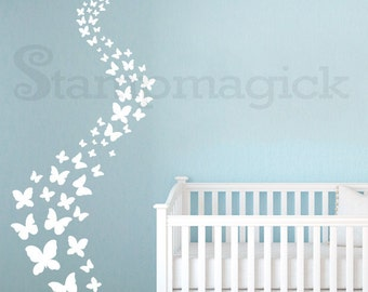 Butterflies Wall Decal for Baby Nursery - Butterflies Vinyl Decal Decor Sticker - K255