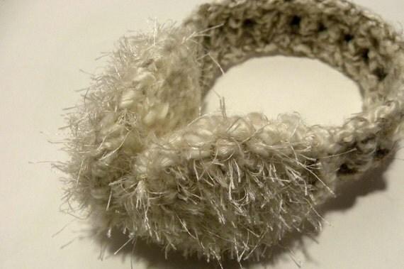Faux Fur Ear Muffs Crochet Pattern, PDF