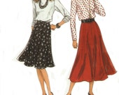 Flared Skirt and Blouse Simplicity Pattern 8570, UNCUT, Skirt in Two Lengths, Vintage, Misses Sizes 8 to 18, Original not a Reproduction