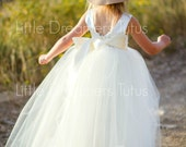NEW! The Juliet Dress in Ivory - Flower Girl Tutu Dress